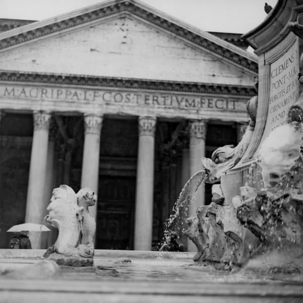 Pantheon in Rome  3:Italy beyond 70mm. Photographs taken on 80mm (Medium format film)