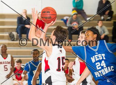 West Potomac vs George Mason Boys Varsity Basketball (30 Dec 2013)
