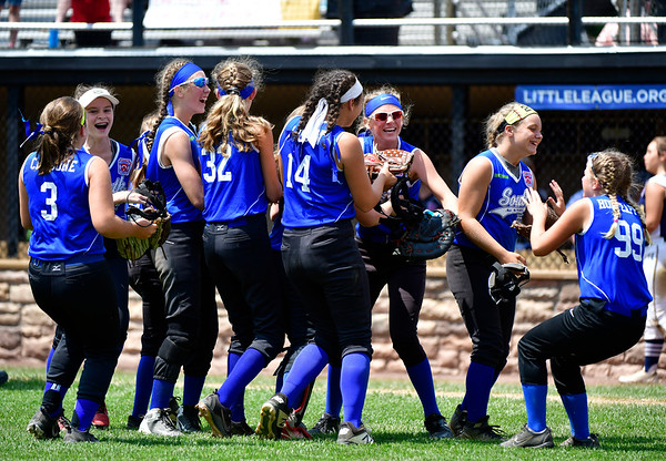 7/25/2019 Mike Orazzi | Staff Pennsylvania celebrates a 3-2 win over Connecticut during the Eastern Regional Softball Tournament at Breen Field in