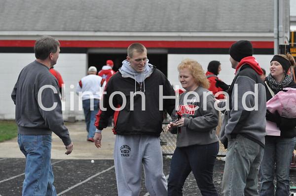 Clinton High boys track senior/parents recognition