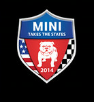 The official MTTS logo for 2014, sponsored by MINI USA (representing the manufacturer). MINI Cooper owners and their passengers registered ahead of time and indicated which city or cities they planned to visit with the tour. The route, stops along the way, and various activities at the overnight stops were planned by MINI USA.