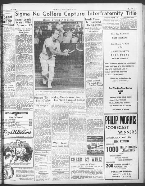 Daily Trojan, Vol. 28, No. 15, October 08, 1936