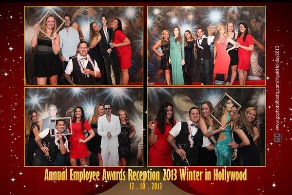 Hyatt Holiday Party Photo Booth Prints