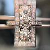 2.40ctw Art Deco Old European Cut Diamond Geometric Dinner Ring 31