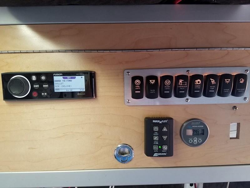 Radio and power distribution  panel
