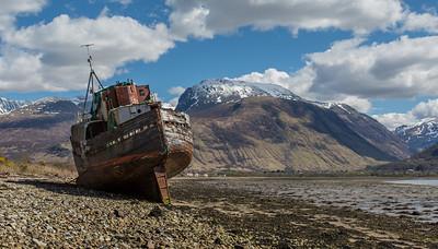 Corpach Shipwreck - Ben Nevis