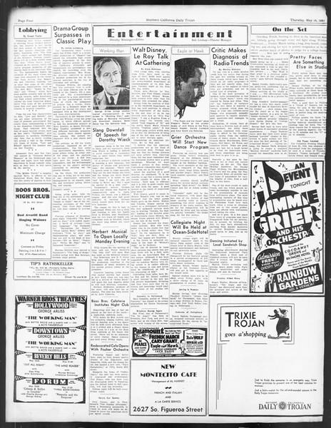 Daily Trojan, Vol. 24, No. 146, May 18, 1933