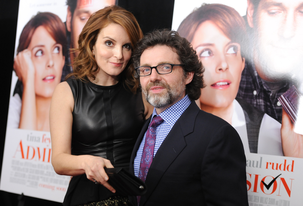 """. Actress Tina Fey and husband Jeff Richmond attend the premiere of \""""Admission\"""" at AMC Loews Lincoln Square on Tuesday March 5, 2013 in New York. (Photo by Evan Agostini/Invision/AP)"""