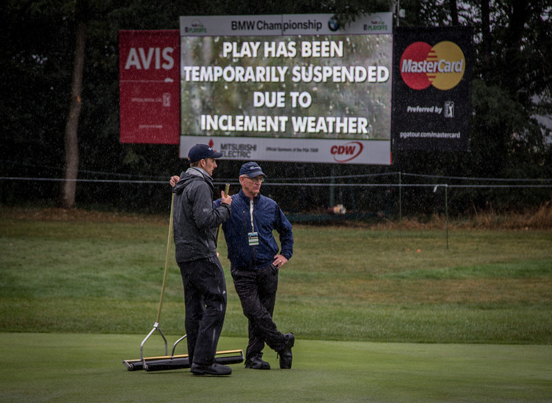 during Sunday action at the BMW/Western Open on Sunday. Sept. 15, 2013. WGA Photo/Charles Cherney