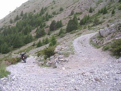 SG 5. Col de Mallemort Tete de Viraysse. Zeer steil en zeer krappe bochten