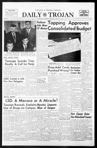 Daily Trojan, Vol. 57, No. 64, February 09, 1966