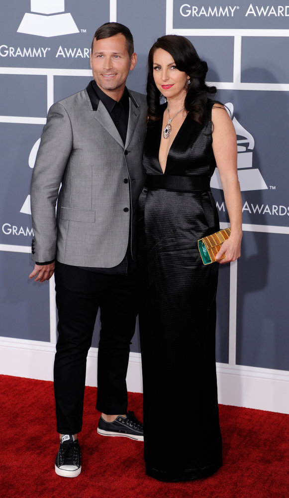 . Kaskade and guest  arrives to  the 55th Annual Grammy Awards at Staples Center  in Los Angeles, California on February 10, 2013. ( Michael Owen Baker, staff photographer)