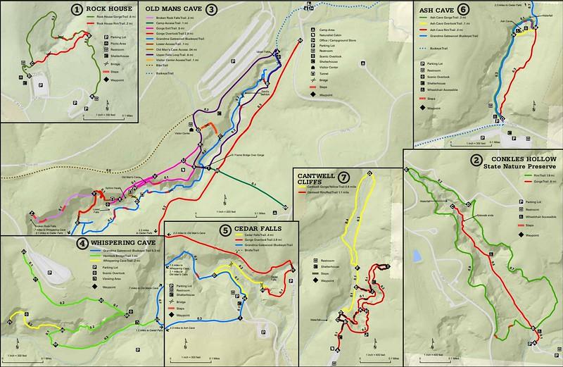 Hocking Hills State Park (Trail Map)