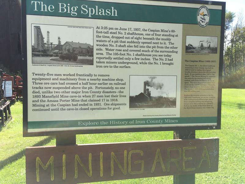 The big splash - borrtorn nr 2 i Caspian Mine föll 1937 rakt ned i gruvhålet