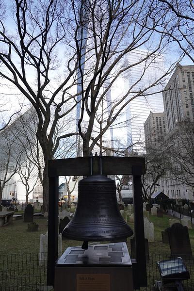 Bell of Hope, St Paul's Chapel Graveyard, Manhattan.