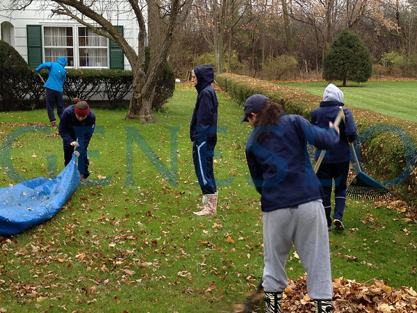 Athletic Leaf Raking (Submitted from Athletics)