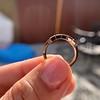 1.28ctw Asscher Cut Diamond 5-Stone Band, 18kt Rose Gold 9