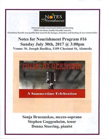170730 A Gershwin Celebration - Program