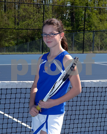 Marshall County Girls 2011 Tennis Team, April 12, 2011.