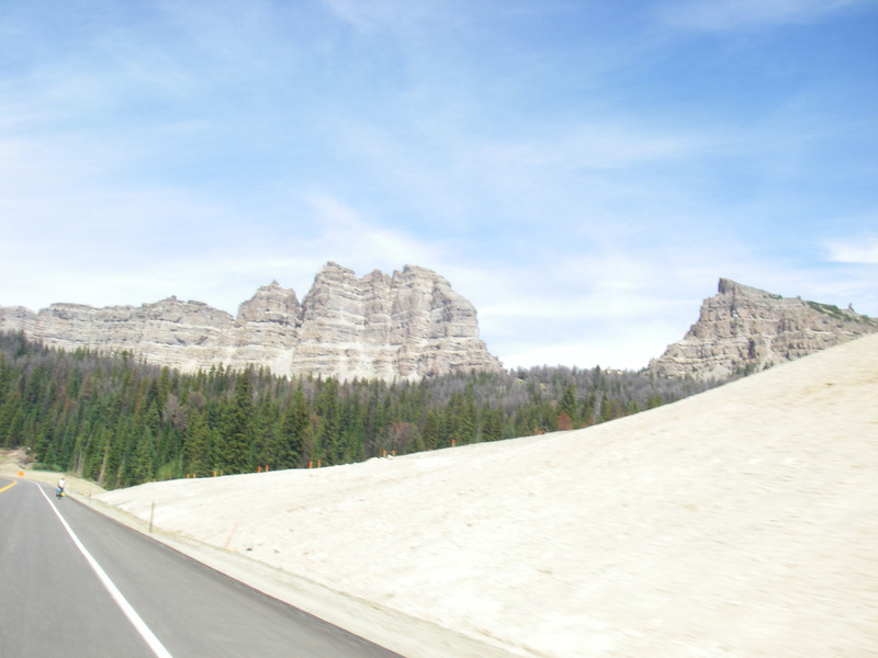 Approaching Grand Teton National Park from east side. August 13th - Saturday.