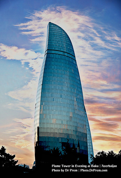 Flame Tower in Evening Baku by Dr Prem.jpg