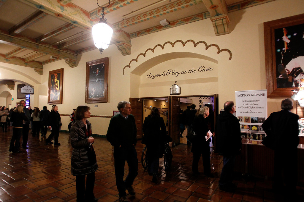 . The main lobby of the San Jose Civic before Jackson Browne performed in downtown San Jose, Calif. on Tuesday, Jan. 22, 2013.  (Nhat V. Meyer/Staff)