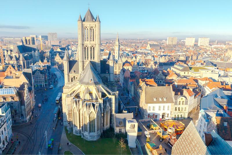 St Nicholas Church in Ghent, Belgium