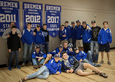 2017 BHS Wrestling Duals State Champs