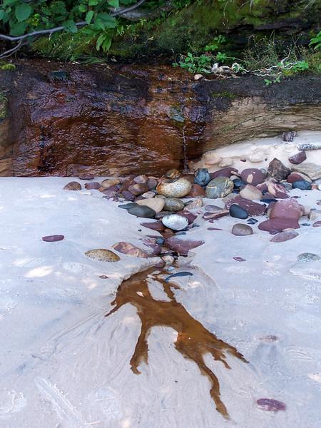 Trickling water makes its way to Lake Superior