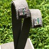 Art Deco Diamond and Emerald Disc Earrings 46