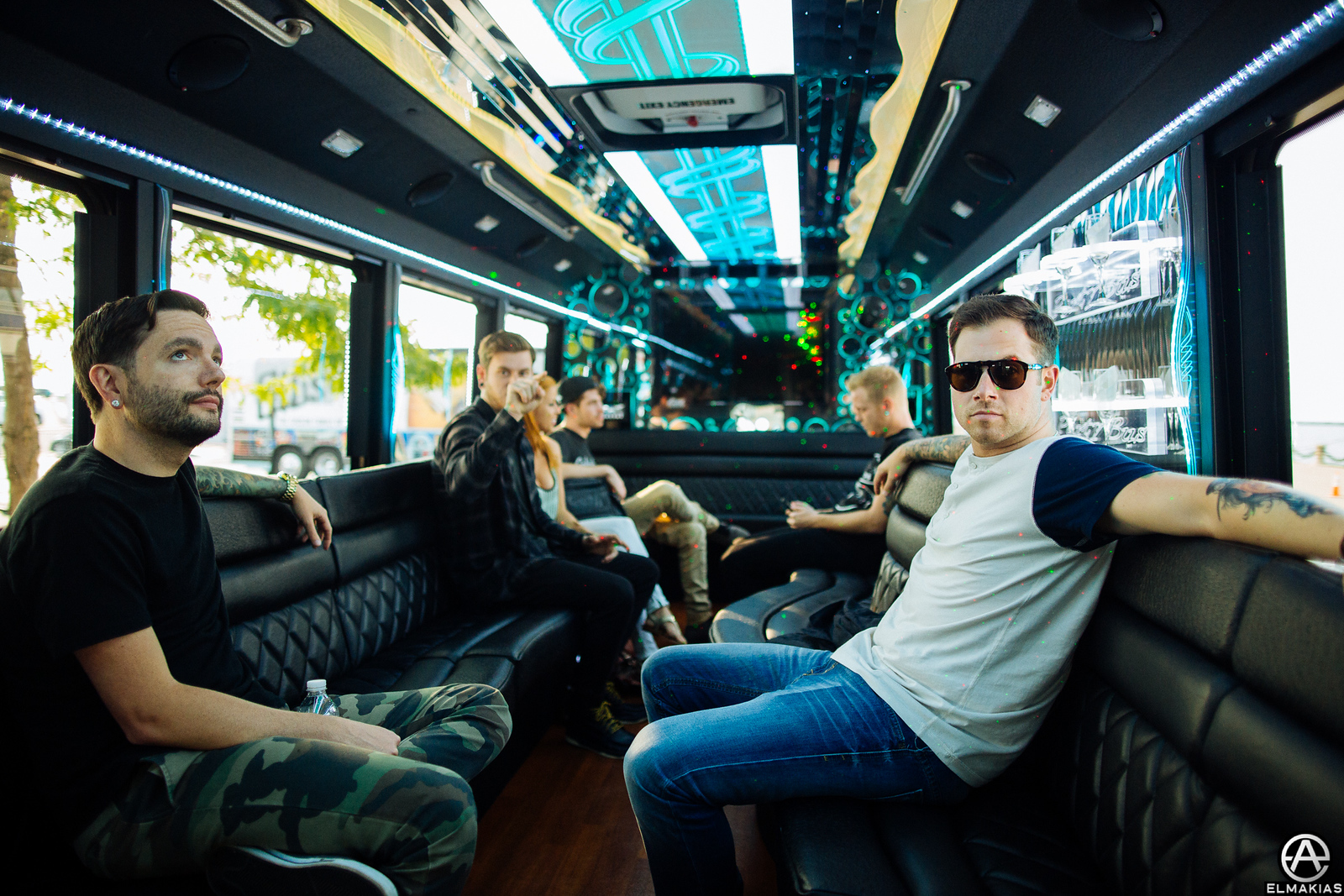 Party bus to rehearsals at venue with A Day To Remember