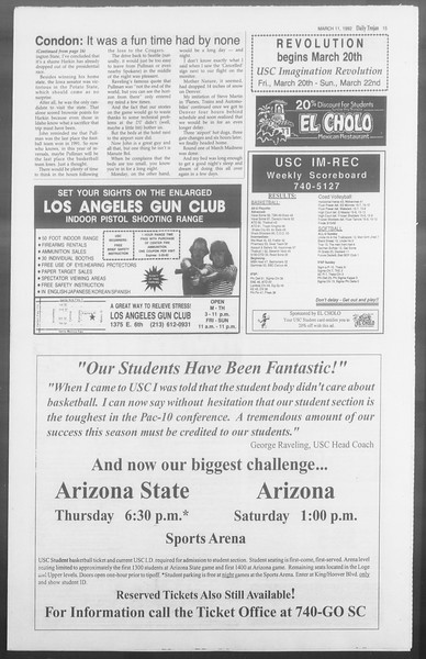 Daily Trojan, Vol. 117, No. 38, March 11, 1992