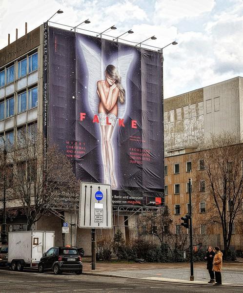 Advertising along the Unter Den Linden, Berlin.
