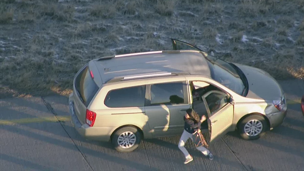 . Police have arrested a man who allegedly stole a vehicle out of Longmont, then carjacked two other vehicles during a lengthy morning chase across Colorado, through rush hour traffic. Courtesy 7News/TheDenverChannel.com