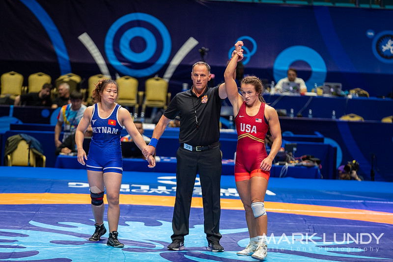 Champ. Round 2: Forrest Ann Molinari (United States) over Thi Vinh Nguyen (Vietnam)  •  Fall 2:42 - 2019 World Championships