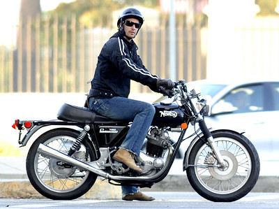 EXC: Keanu Reeves On Norton 750 Commando
