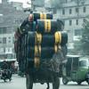 Carefully loaded  horse & cart
