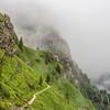 Steep Mountainside and the Mist, Bucegi, Romania