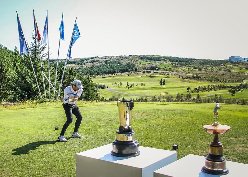 Hákon Harðarson.  Íslandsmót golf 2019 Grafarholt - 1. keppnisdagur. Mynd: seth@golf.is