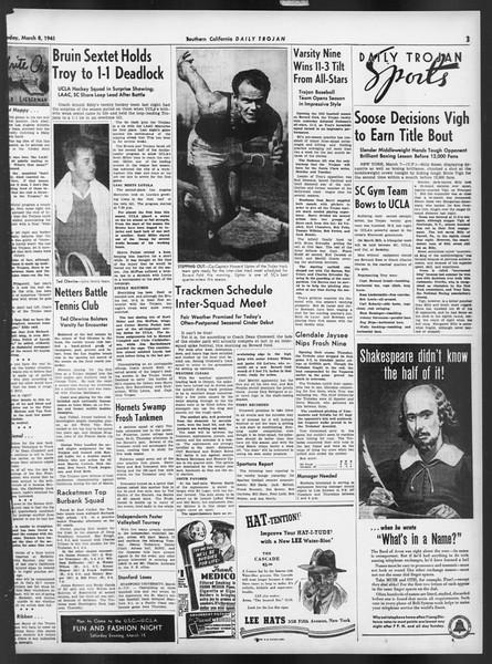 Daily Trojan, Vol. 32, No. 96A, March 08, 1941