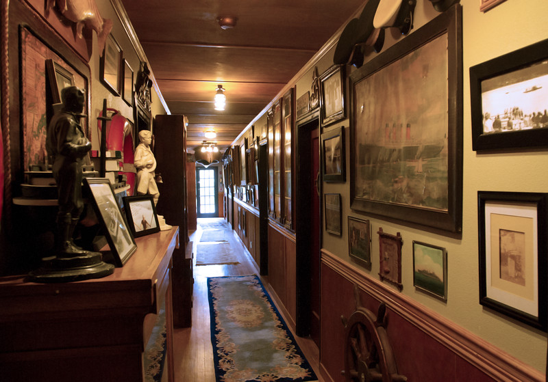 The downstairs hallway.