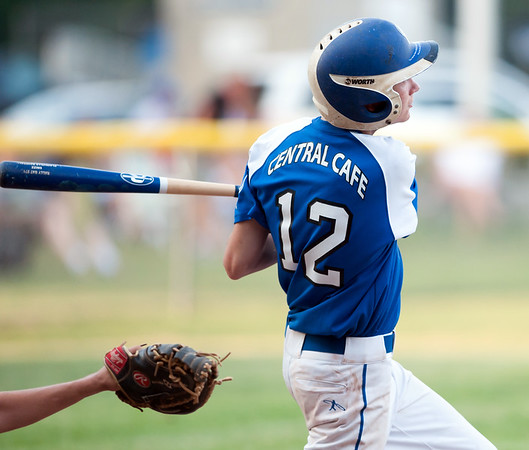07/16/18 Wesley Bunnell | Staff Bristol defeated Plainville in legion baseball on Monday night at Trumbull Park in Plainville. Tyler Davis (12).
