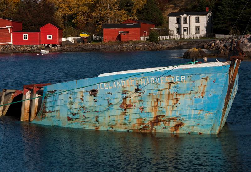 Sunken boat - Newfoundland