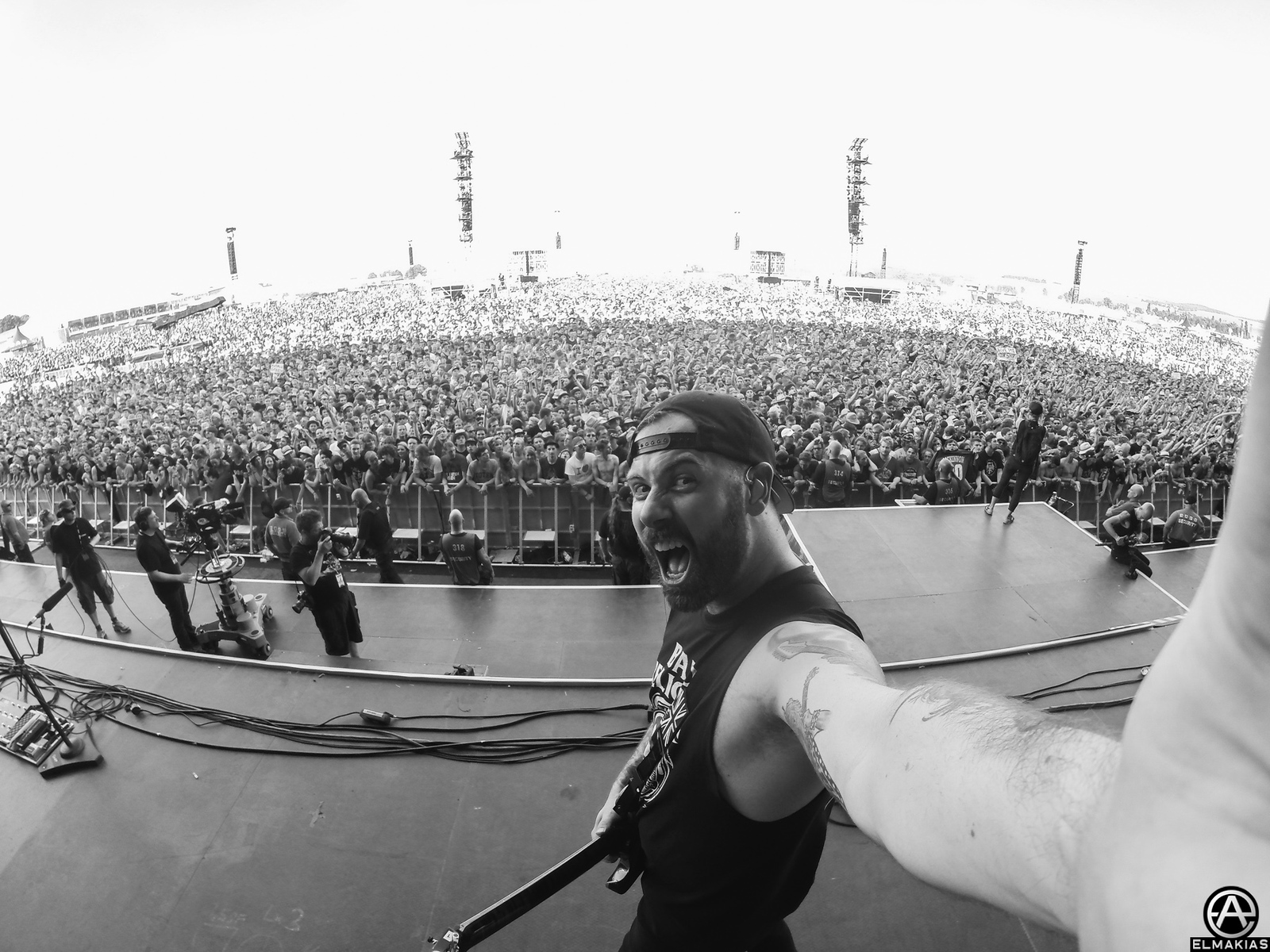 Kevin Skaff of A Day To Remember live at Rock AM Ring