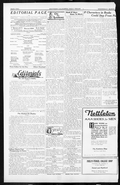 Daily Trojan, Vol. 16, No. 75, March 25, 1925