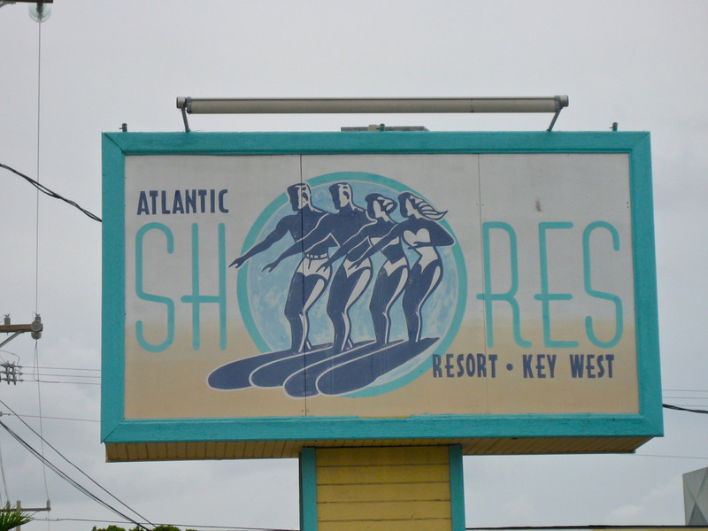 The Atlantic Shores Resort located on South Street in Key West was a famous destination for years until it was sold and demolished in 2007 to make way for a new motel.  It was most famous for its clothing optional pool and Sunday night Tea Dances.