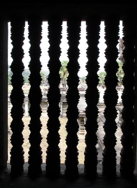 window at Angkor Wat