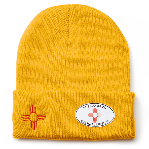 Outdoor Apparel - Organ Mountain Outfitters - Hat - Zia Sun Symbol Beanie Yellow.jpg