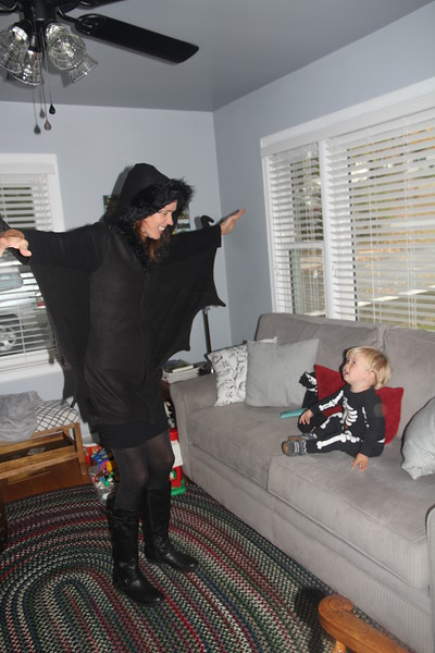 Elliot thinks his Mommy is Batty!