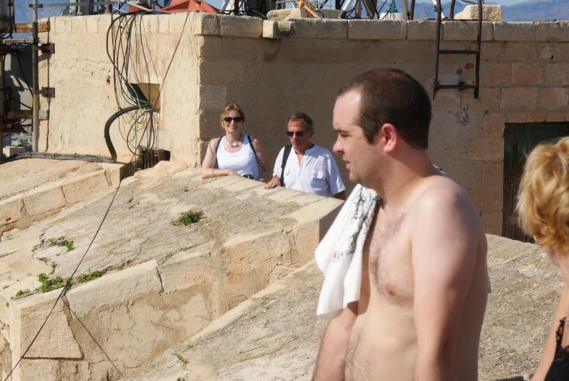 Alicante, Spain.  From left to right: the Attache, Spanish dude, Irish dude, Irish dude's girlfriend